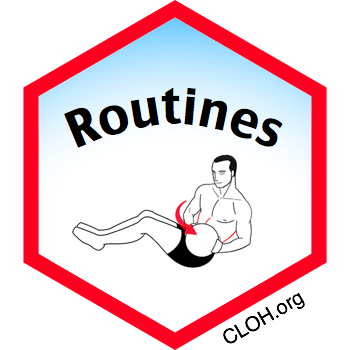 Routines, Digital Badge from CLOH.org for Exercises