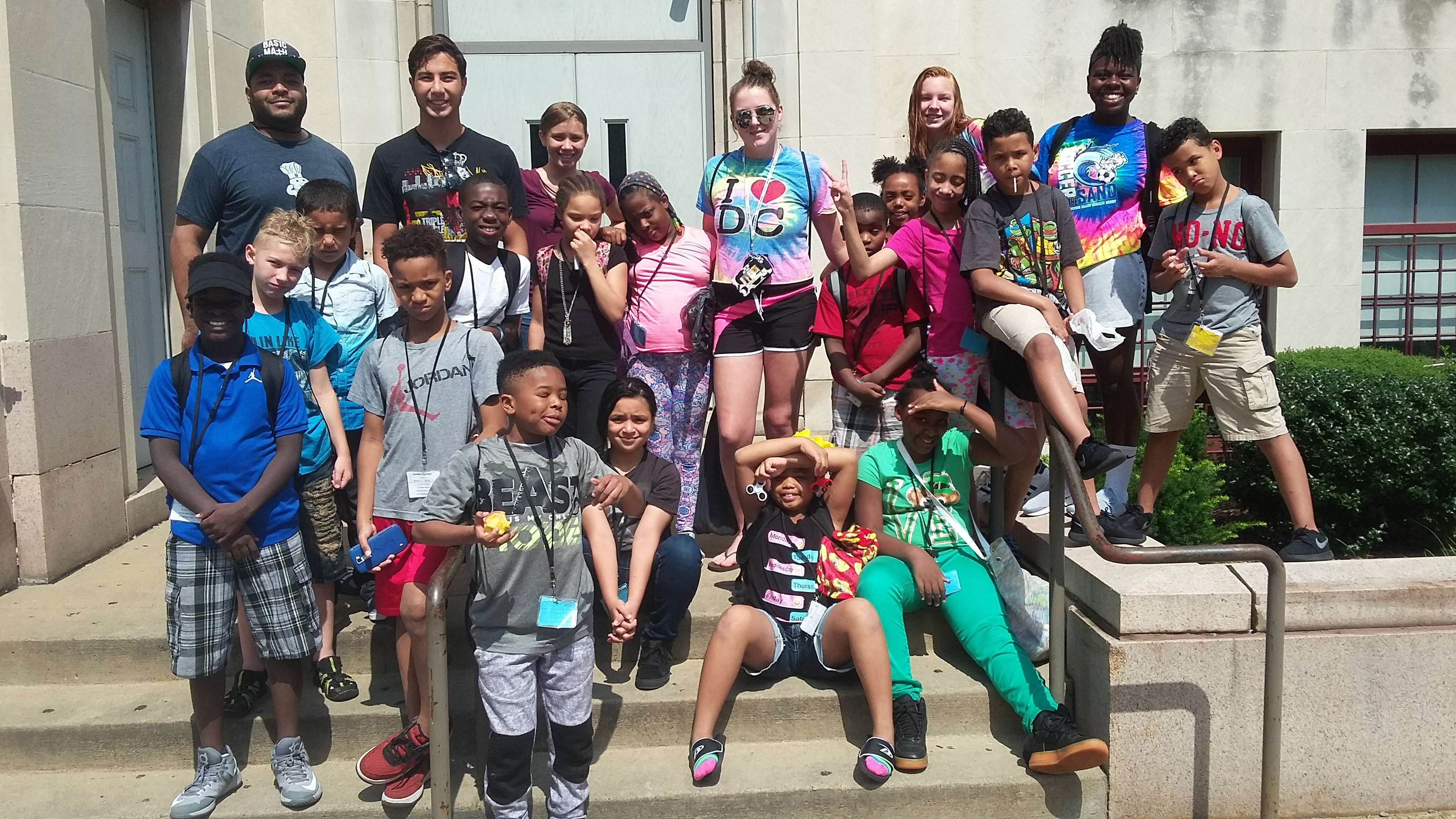 Summer Dreamers outside of PPS Allegheny MS after a session at Swim & Water Polo.