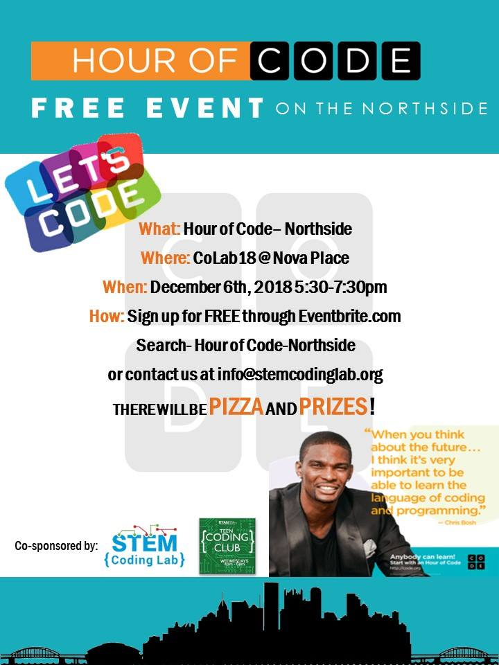 Call to Hour of Code on Northside on December 6, 2018