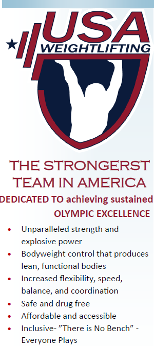 USA Weightlifting logo and some benefits