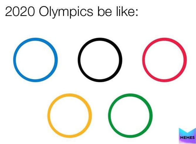 Olympic rings but broken apart