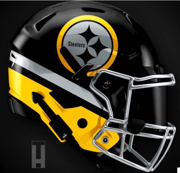Steelers helmet, new age design